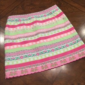 Lilly Pulitzer Ribbon textured skirt size 12